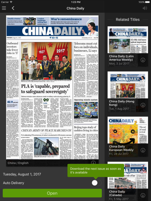The China Daily iPaper截图4