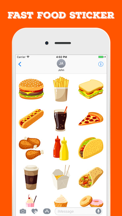 Fast Food Stickers For iMessage screenshot 2