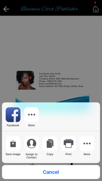 business card publisher app download