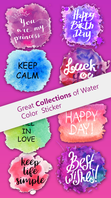 Watercolor Greetings Stickers Pack screenshot 1