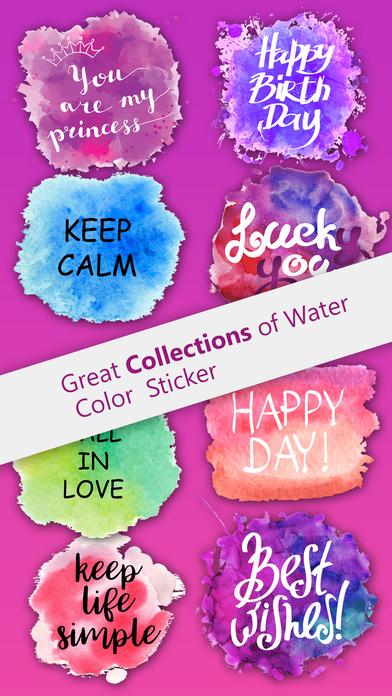 Watercolor Greetings Stickers Pack screenshot 1