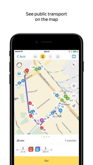 Yandex.Maps — Navigation & Transit screenshot