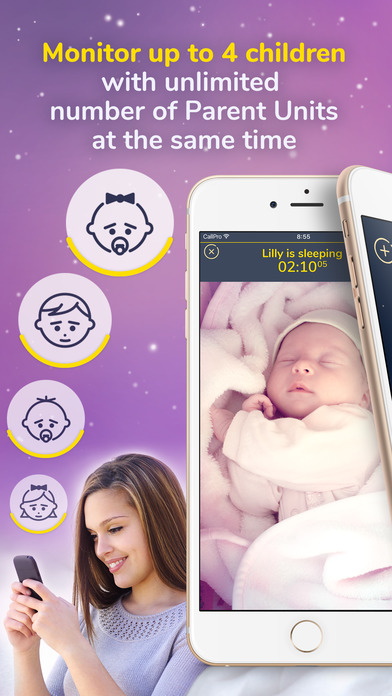 best baby monitor video audio cloud nanny cam app download android apk. Black Bedroom Furniture Sets. Home Design Ideas