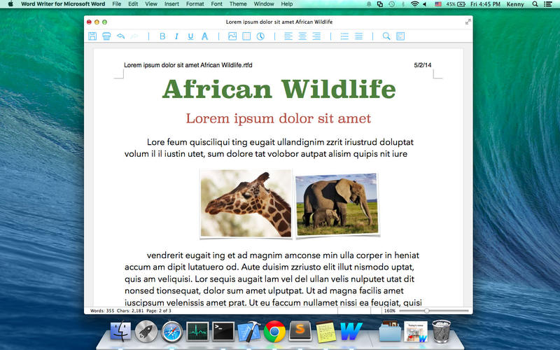 Word Writer for Microsoft Word Screenshot - 1