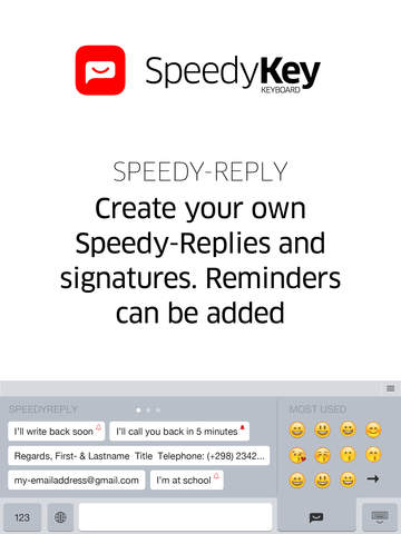 SpeedyKey Keyboard Screenshots