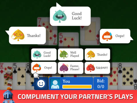 Spades - Free Card Game. Bid, trump and go nil! screenshot
