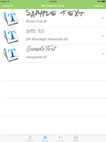 InstaFont - Easily Install New Custom Fonts for iPad & iPhone Screenshots