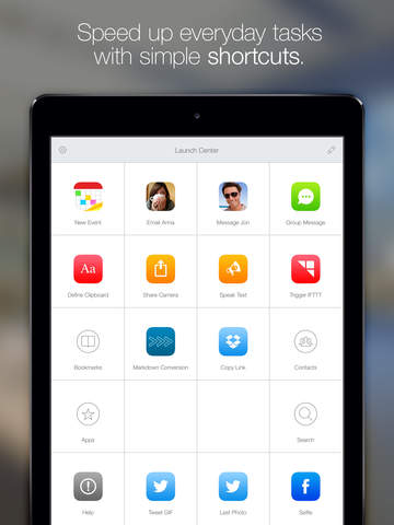 Launch Center Pro for iPad Screenshots