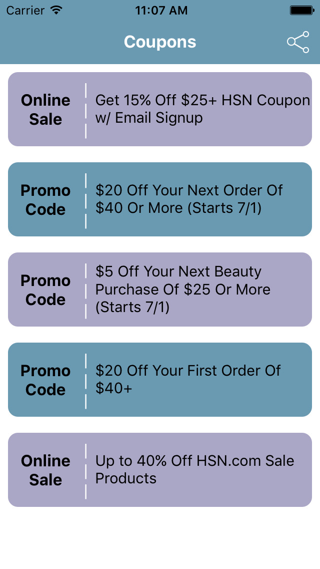 Coupon code for hsn