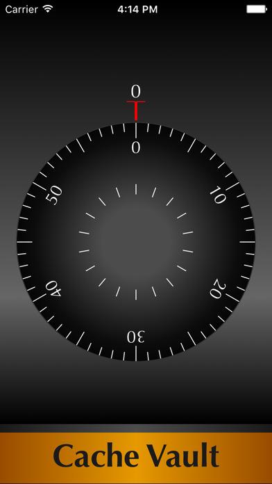Cache Vault iPhone Screenshot 1