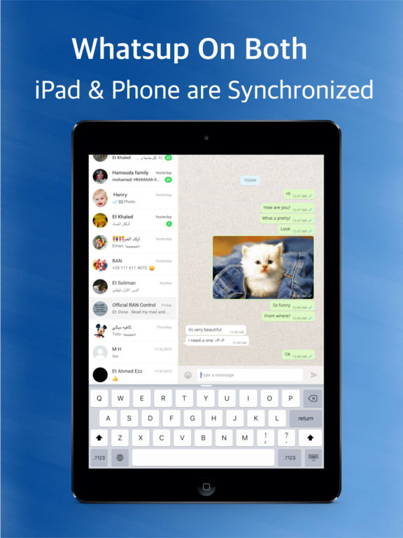 Messenger for Whatsup for iPad Pro - instant messaging and social networking new version Screenshots