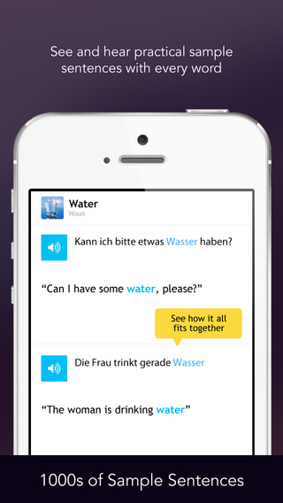 Learn German Vocabulary - Free WordPower iPhone Screenshot 4