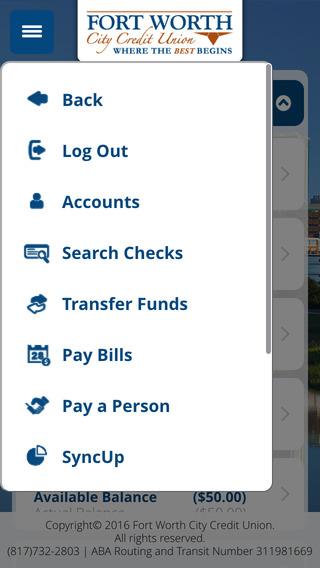 FWCCU iPhone Screenshot 3