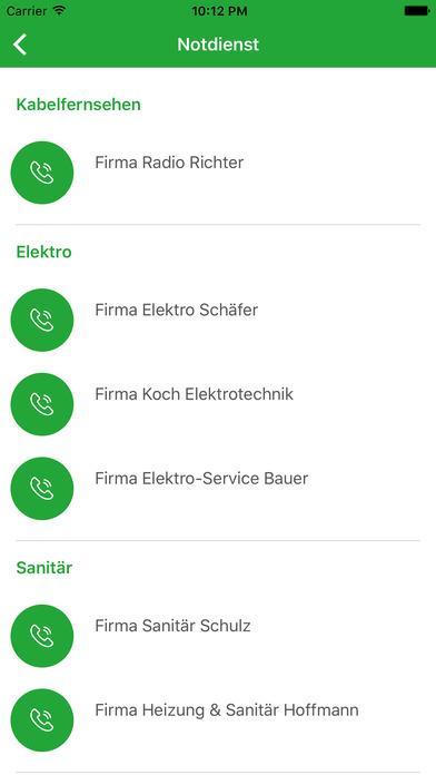 Baugenossenschaft Langen screenshot