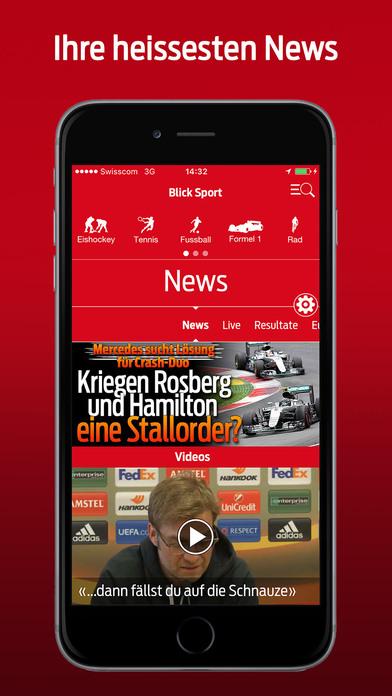 Blick Fussball iPhone Screenshot 1