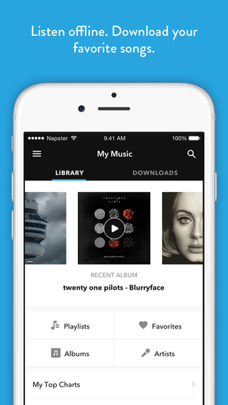 Napster | Rhapsody - Music Screenshots