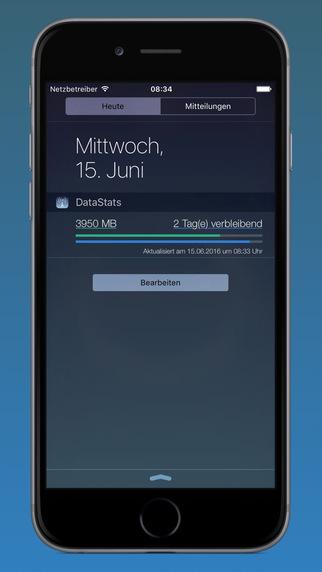 DataStats - Verbrauchsanzeige Screenshots