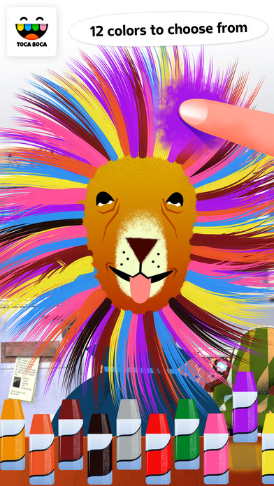 Toca Hair Salon Apps free for iPhone/iPad screenshot