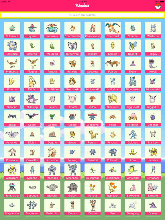 Pokedex for Pokemon Go Screenshots