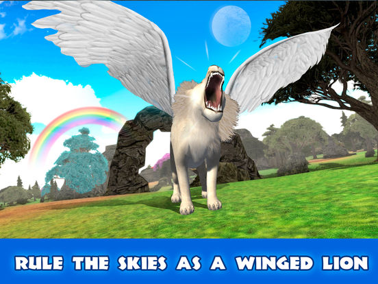 Wild Flying Lion Simulator 3D Full screenshot 5