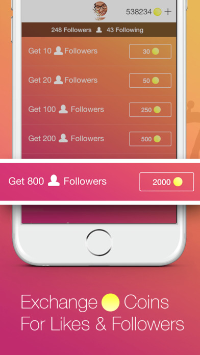 Screenshots of Follow4Follow - Get more views, followers and likes for Instagram for iPhone