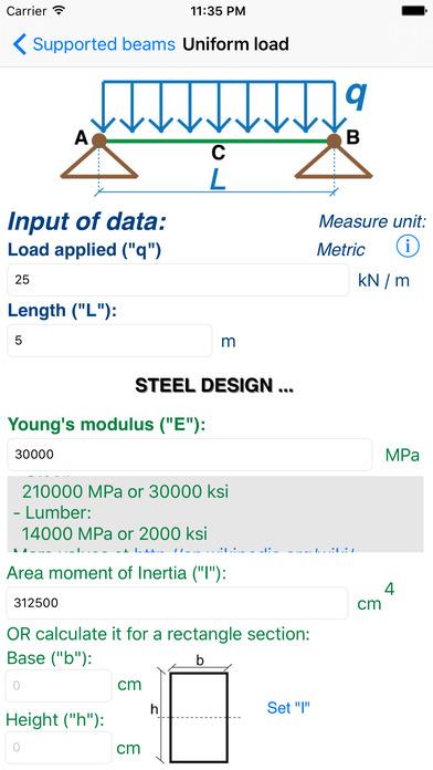 Statics (Civil Engineering) iPhone Screenshot 2