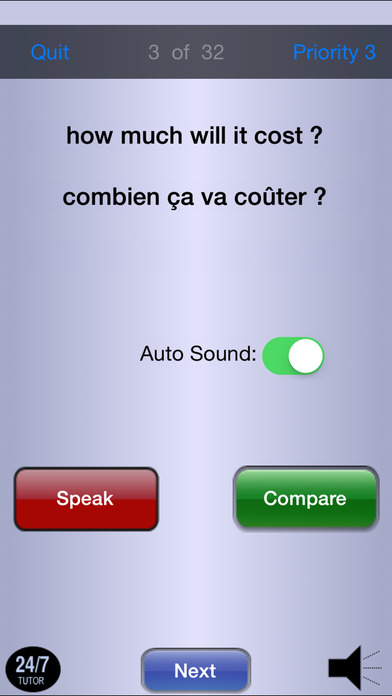 French 103 - Phrases iPhone Screenshot 5