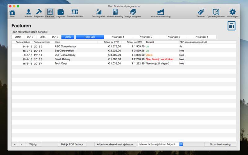 Boekhoudprogramma voor ZZP'ers for Mac
