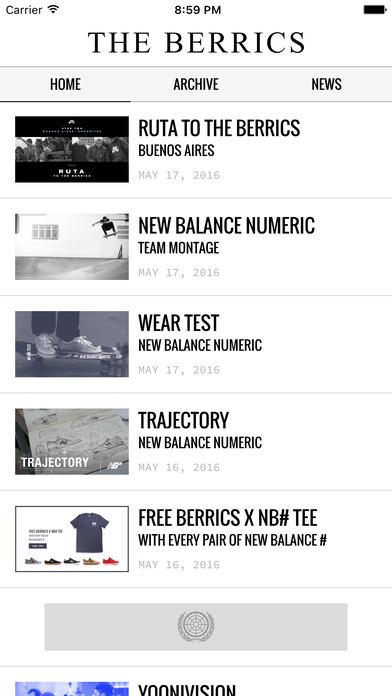 The Berrics Skateboarding Videos iPhone Screenshot 1