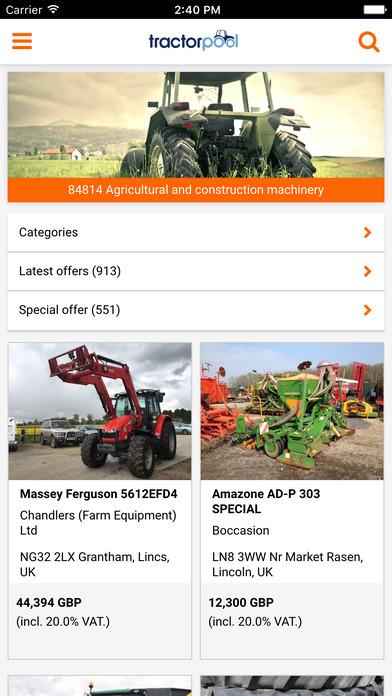 tractorpool iPhone Screenshot 1