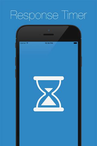 Response Timer - Reflex Test screen