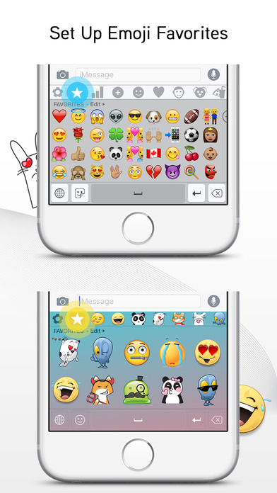 Screenshots of Emoji> for iPhone