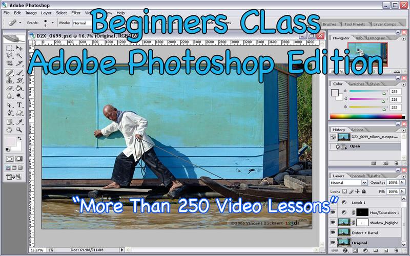 Beginners Class! Adobe Photoshop Edition screen