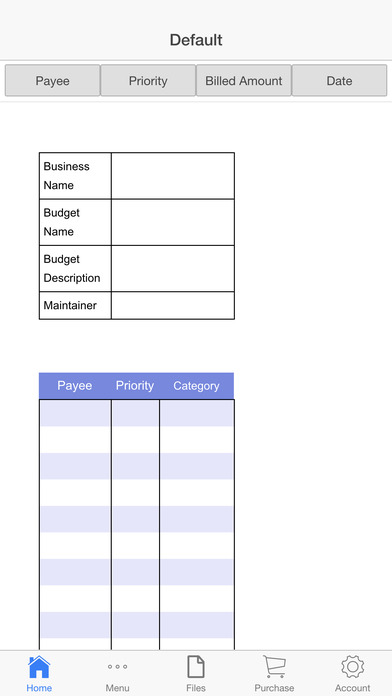 Expenses Register Screenshots