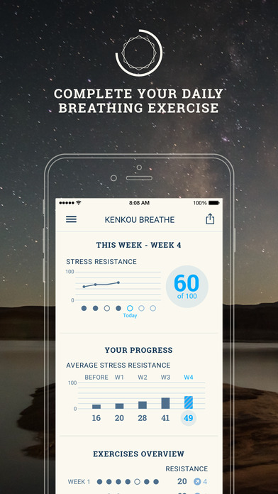 Breathe Pro: 28 Day Breathing, instant stress relief training course in awesome spots around the globe Screenshots