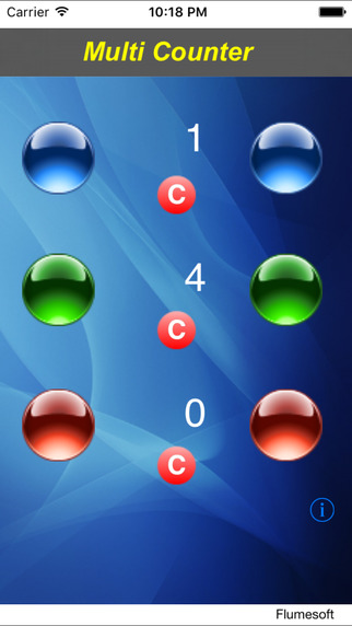 Multi-Counter iPhone Screenshot 1