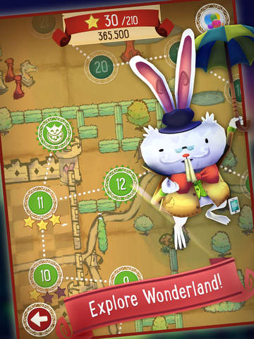 Alice in Wonderland Puzzle Golf Adventures Screenshots