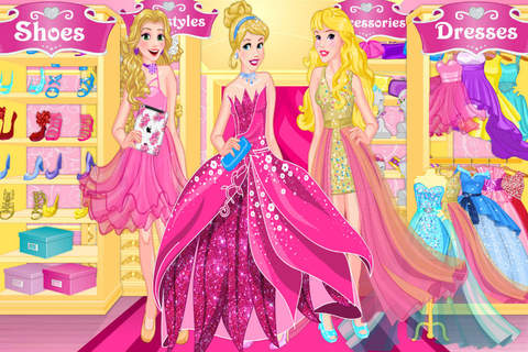 Blonde Princess Prom Shopping——Beauty Fantasy Salon/Cute Girls Make Up screenshot 4