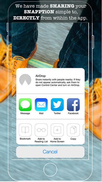 SNAPPTiON - Text overlays on photos & short clips Screenshots