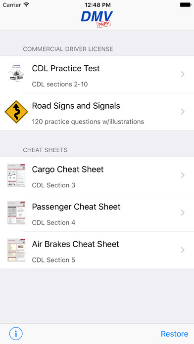 CDL Test Prep Pro (Commercial Driver's License) iPhone Screenshot 1