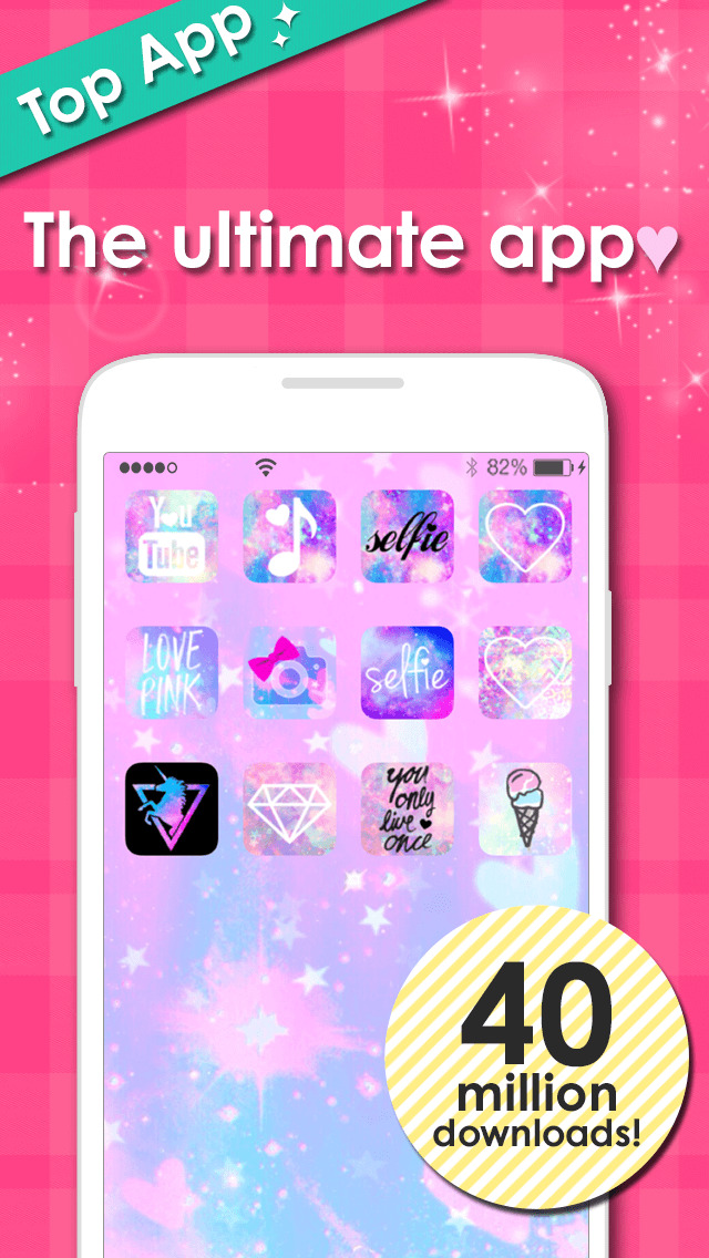 cute icon&wallpaper dressup - CocoPPa screenshot