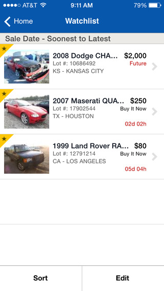 Copart Mobile iPhone Screenshot 4