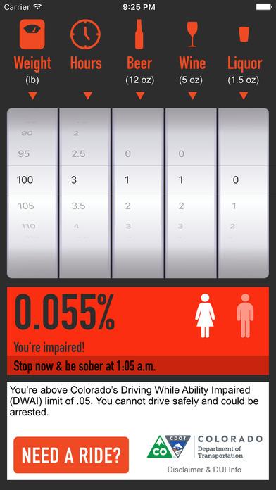 R-U-Buzzed? BAC Calculator iPhone Screenshot 2