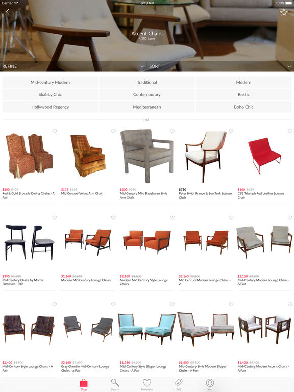 Chairish - Home Decor and Vintage Furniture to Buy and Sell screenshot