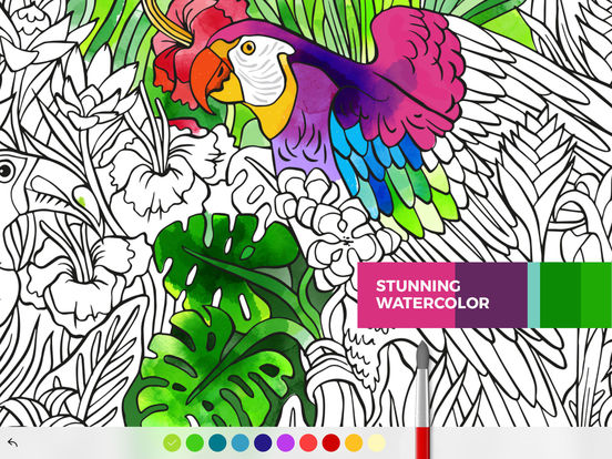 Tayasui Color, a relaxing coloring book for adults Screenshots