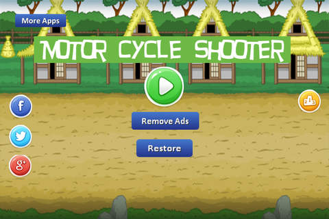 Motor Cycle Shooter - go forward firing bullets screen