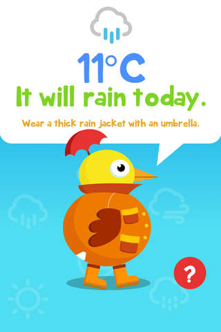 Weather Duck screen