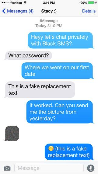 Black SMS - Protected Texts Screenshots