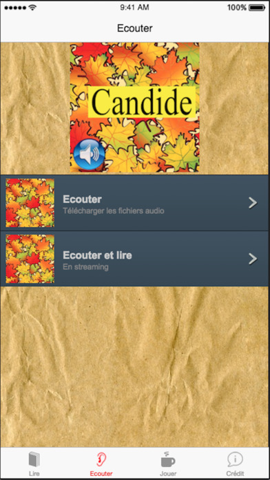 Candide (French), text + audio iPhone Screenshot 2