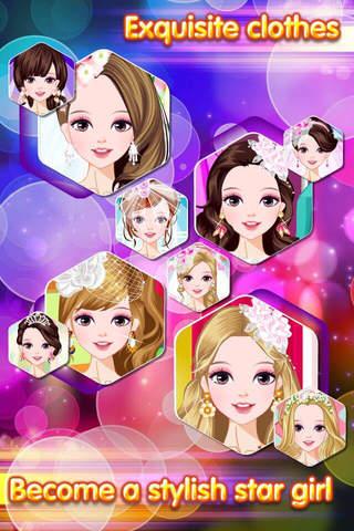 Wedding Dress Stylish - Romantic Lovers Dressup Salon, Girl Games screenshot 4